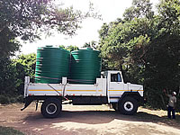 Cross-border - transport of water tanks
