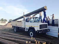 Cross-border - loading timber